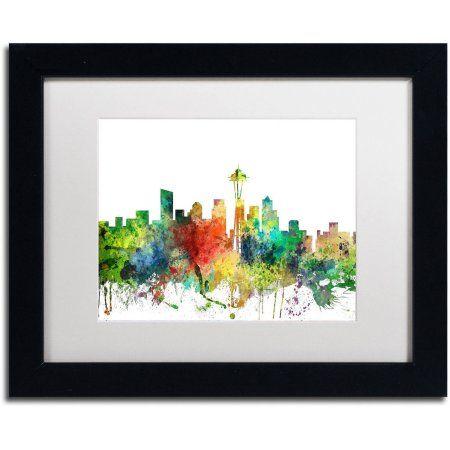Trademark Fine Art Seattle Washington Skyline Sp Canvas Art by ...