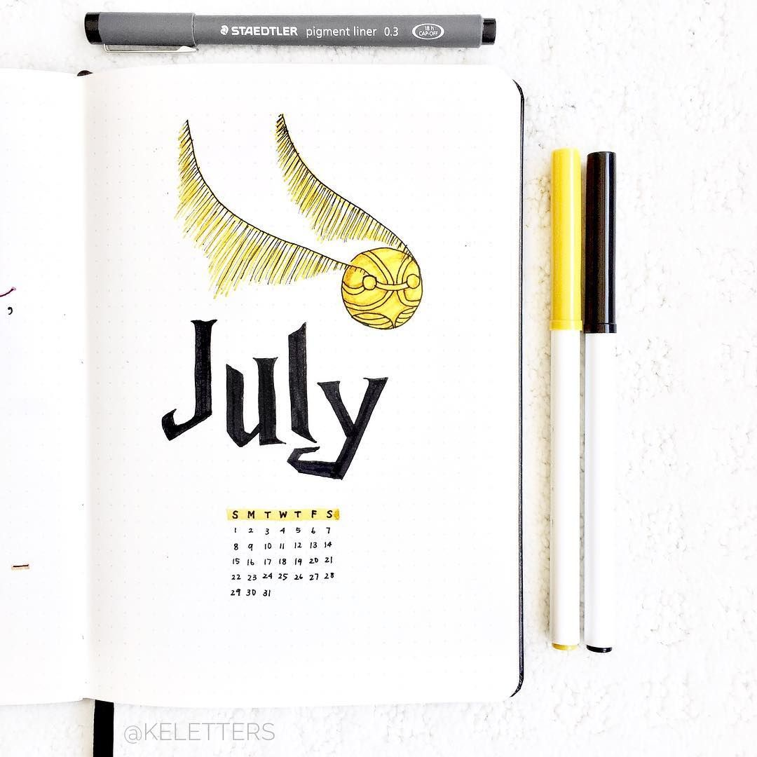Part 2: 80+ Magical Harry Potter Bullet Journal theme layout ideas #birthdaymonth