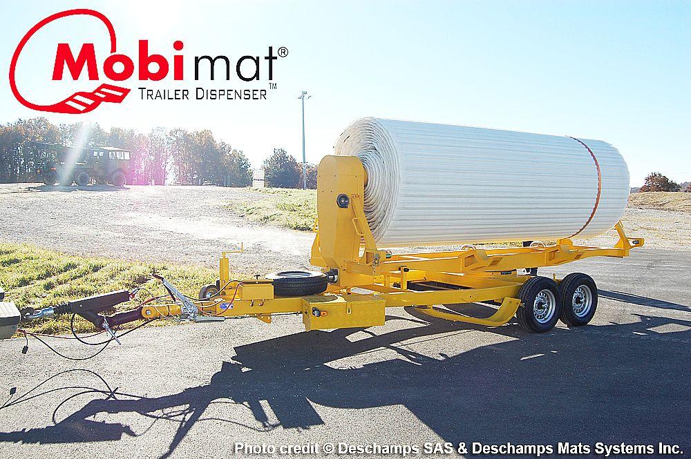 Trailer Dispenser Mobi Mat Aircraft Recovery Aircraft Recovery Trailer