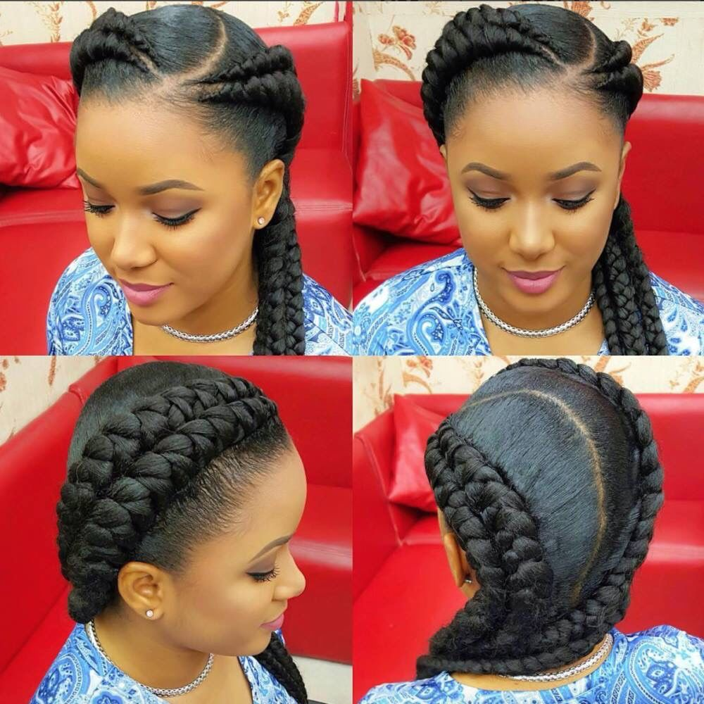 A Twist On The Usual 2 Sided Cornrow Braids Follow For More Styles