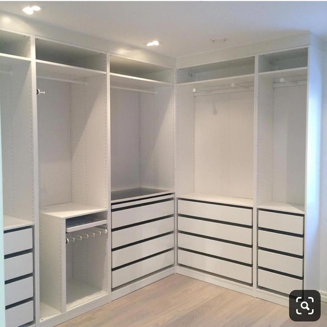 Women S Rooms Decorated With Images Walk In Closet Ikea