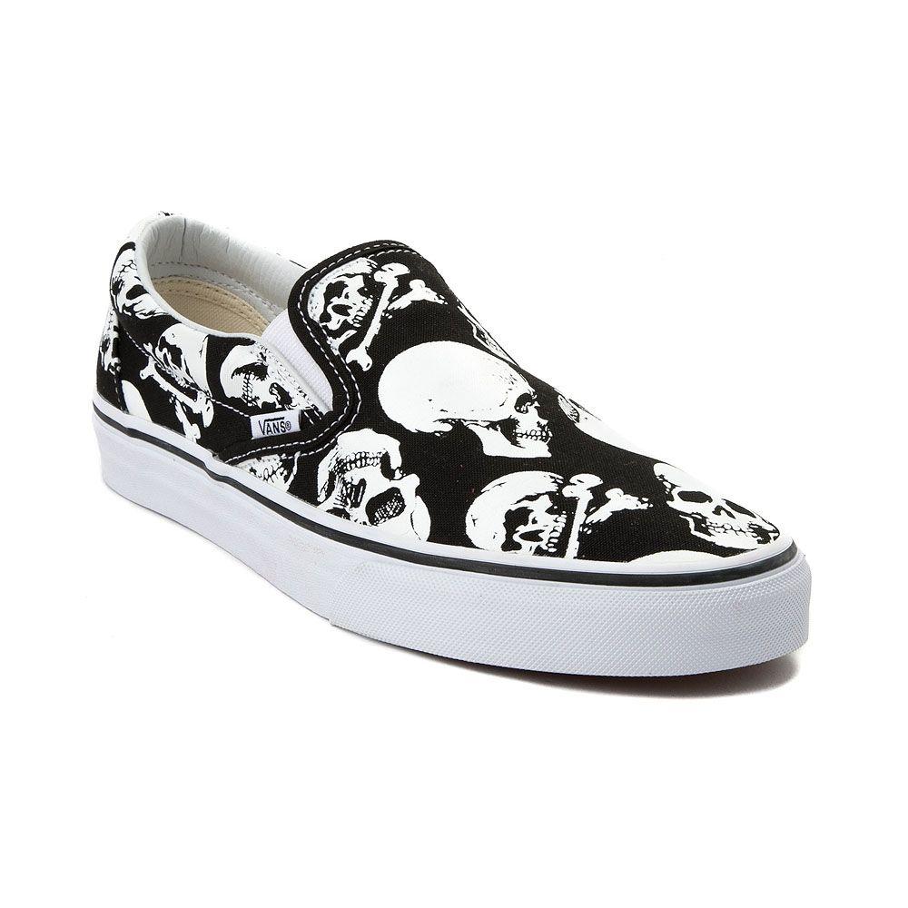 Vans Slip On Skulls Skate Shoe - Black - 497277 in 2019  cf3aaff27