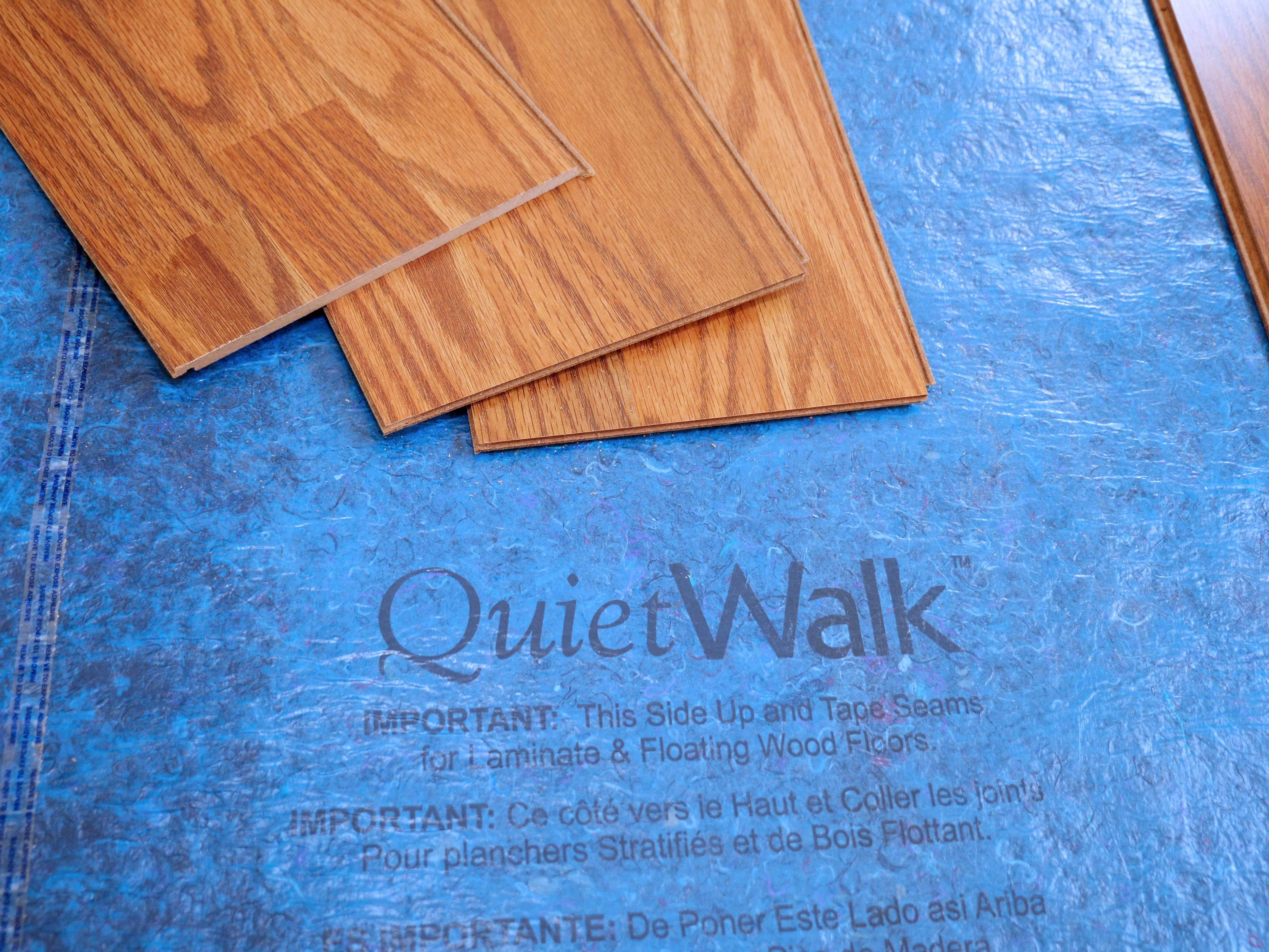 QuietWalk Acoustic Underlayment Is A Great Foundation For Your New Laminate Or Floating Wood Floors