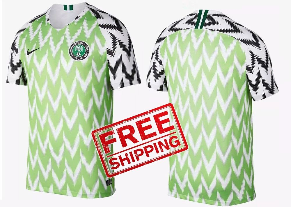 finest selection 0047e 9d736 Nigeria Jersey World Cup Russia 2018 Football quality Shirt ...