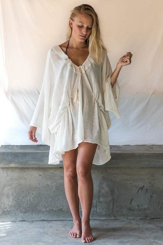 07c68d2eb0 Cotton Kaftan In Off White Muslin by 0studiotia on Etsy | how pretty ...