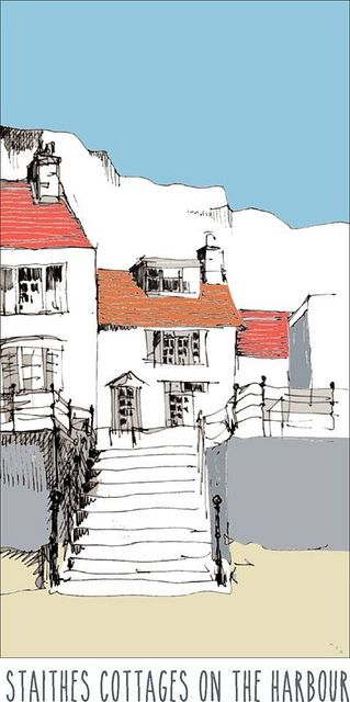 Staithes cottages, digitally coloured | Flickr - Photo Sharing! / John Harrison
