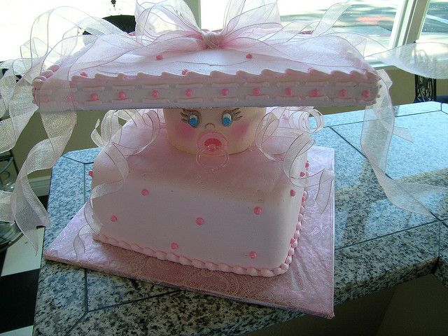 Baby girl present with binky by Royalty_Cakes, via Flickr