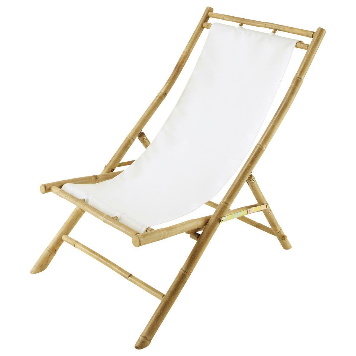 Tumbona silla de playa plegable bamb crudo robinson for Silla tumbona plegable