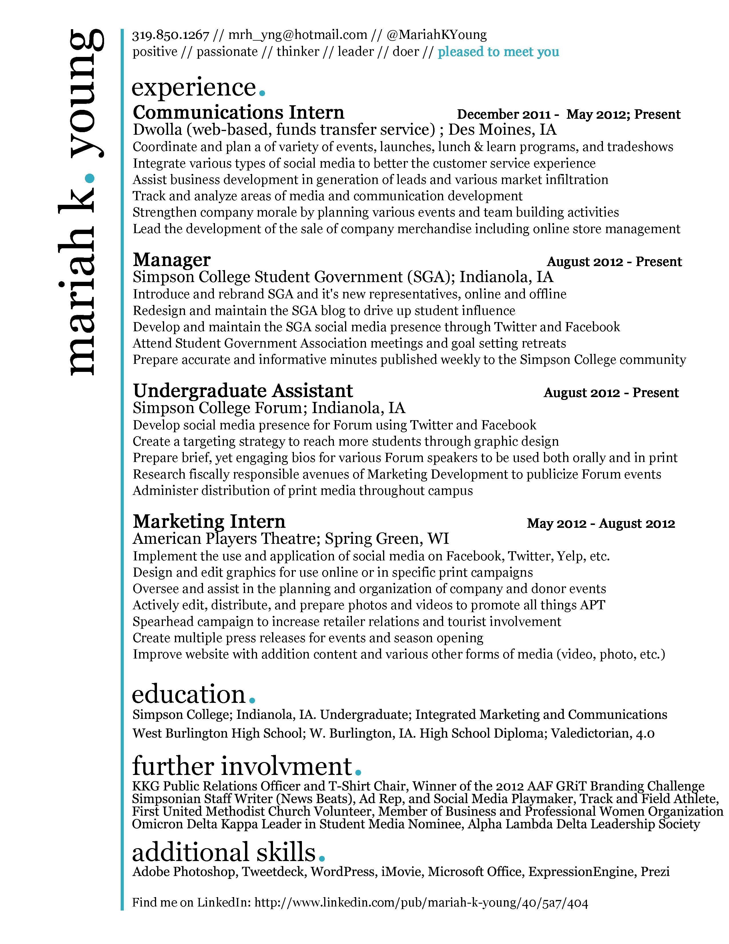 Simple Yet Unique Enough To Catch The Eye Online Resume Job Inspiration Resume Tips