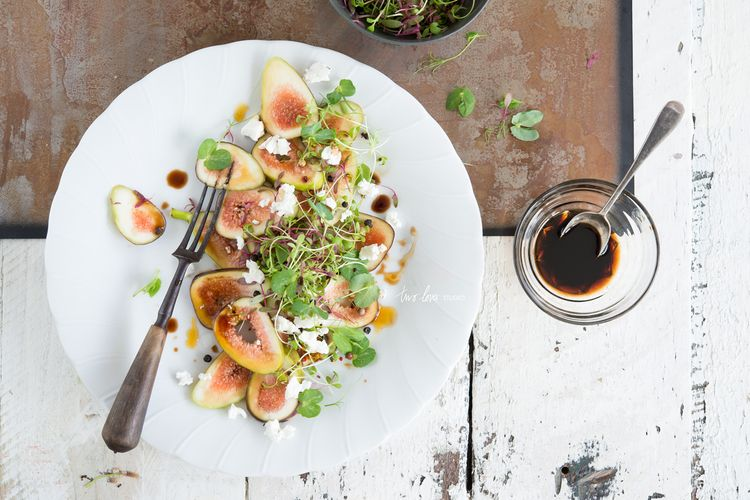 Fig Salad with Marinated Danish Feta & Sweet Balsamic Vinegar — Two Loves Studio | Food Photography