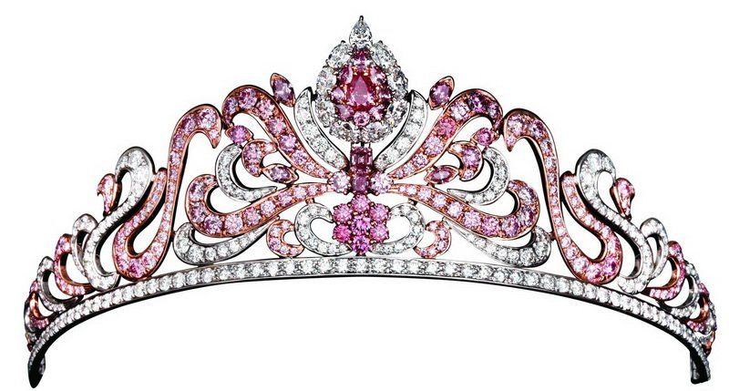 Pink Diamond Tiara designed by the Royal Jeweller, Asprey of London, and is encrusted