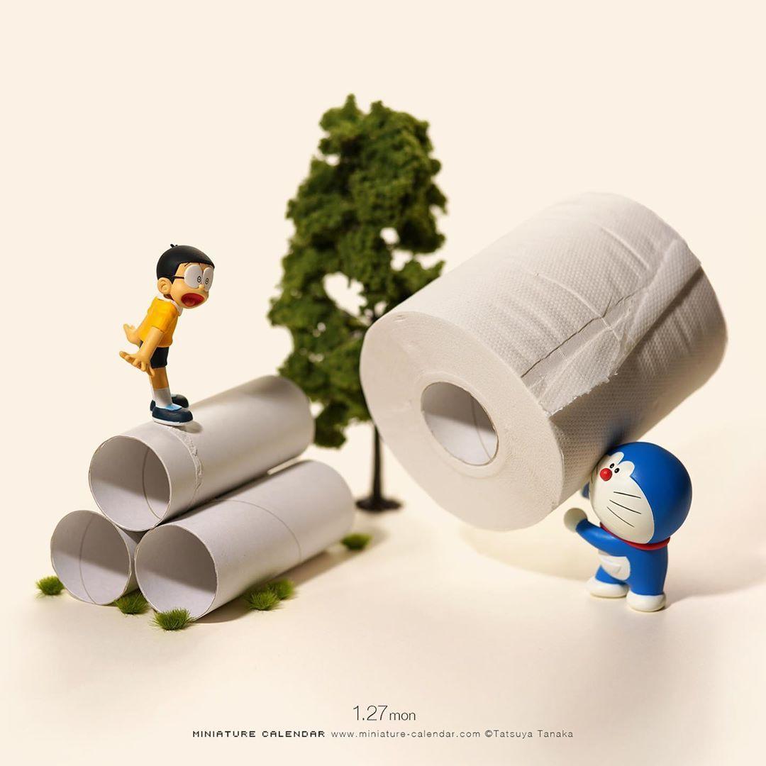 いいね 44 8千件 コメント127件 tatsuya tanaka 田中達也 tanaka tatsuya のinstagramアカウント 1 27 mon new toilet paper いつも僕は君の尻拭い ドラえもん 空き地 土管 達也 ミニチュア 写真 ブライス カスタム
