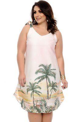 7b637526a Vestido Linho Plus Size Dwi