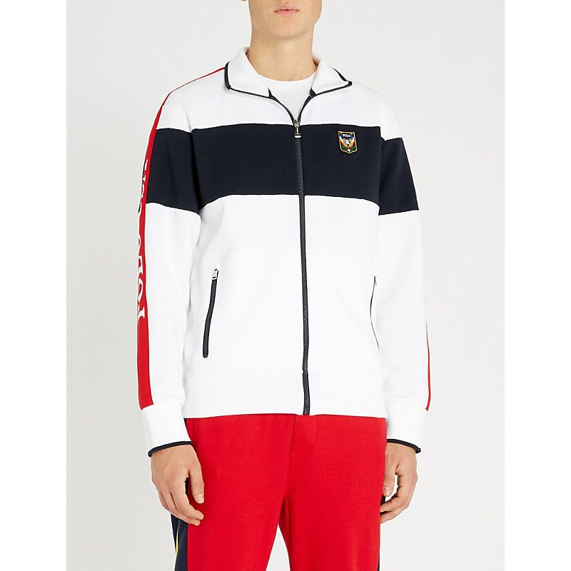 cdab853a73234 POLO RALPH LAUREN CONTRAST-PANEL STRETCH-COTTON SWEATSHIRT.  poloralphlauren   cloth