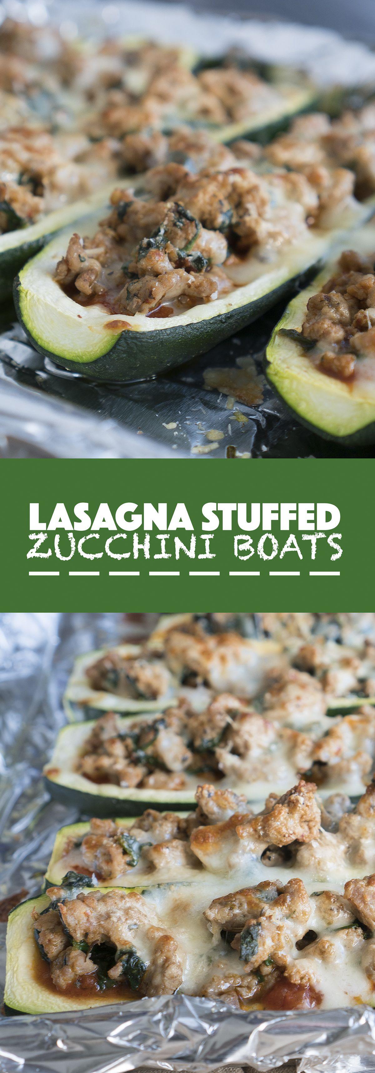 Photo of Lasagna Stuffed Zucchini Boats