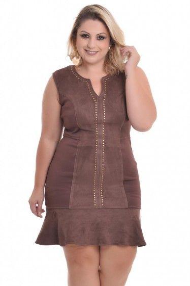 7a0578f98 Vestido Plus Size Taemi   BÜYÜK BEDEN   Roupas femininas, Roupas ...