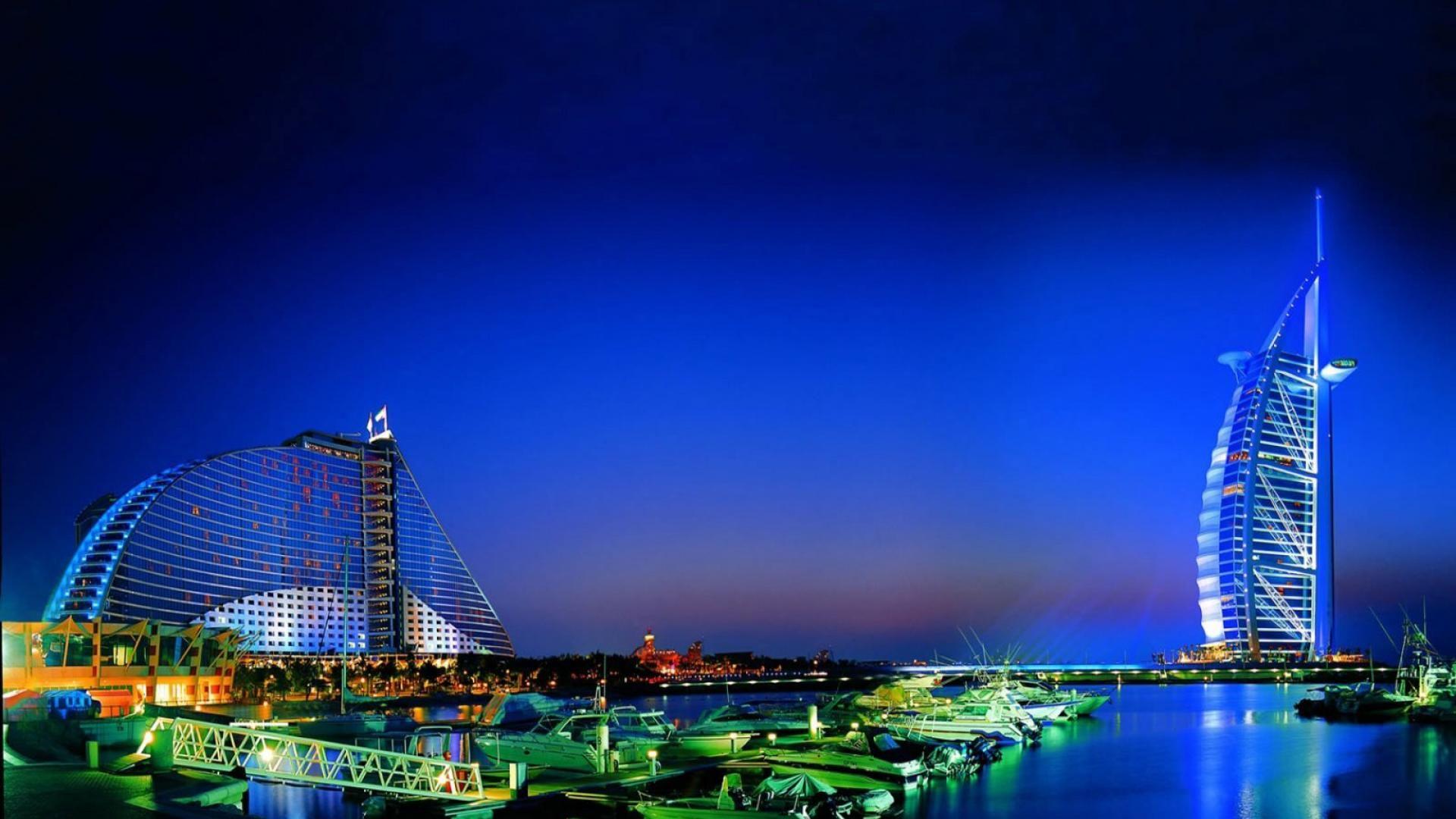 Hotel dubai burj al arab night hd wallpaper design hotel for Hotel design a dubai