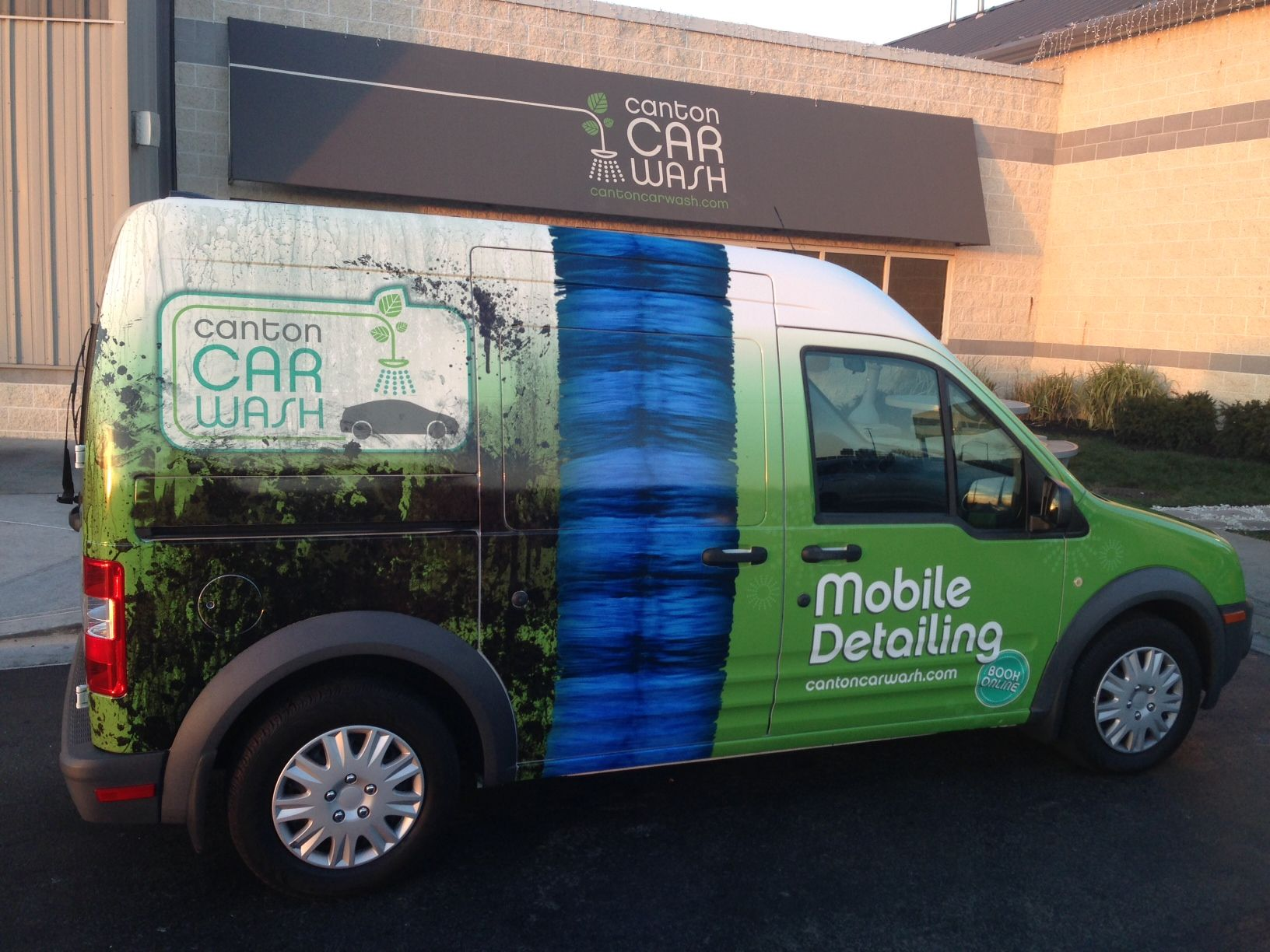 Ford transit connect van wrap vehicle graphics baltimore maryland