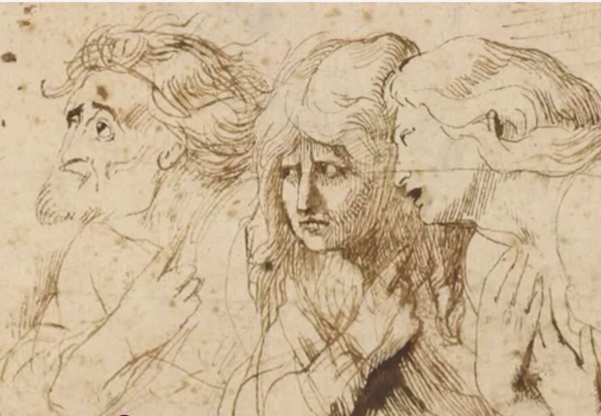 """RUBENS Rubensestudióa muchos artistas buscando aprender distintas cosas de cada uno de ellos. Su principal fuente de inspiración para pintar expresiones fue""""La última cena"""" deLeonardo daVinci."""