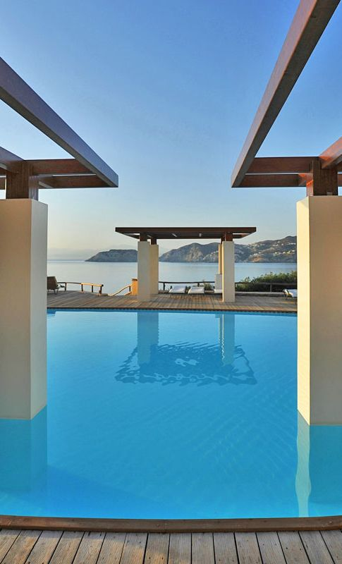 Water Everywhere View From Chc Sea Side Resort Spa In Heraklion Resort Spa Resort Holiday Rental