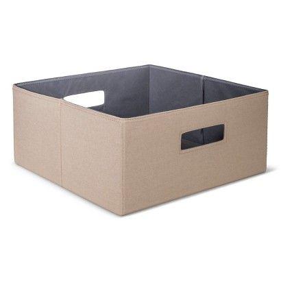 Threshold Half Storage Bin Mocha Cube Storage Cube Storage Bins Storage Bin