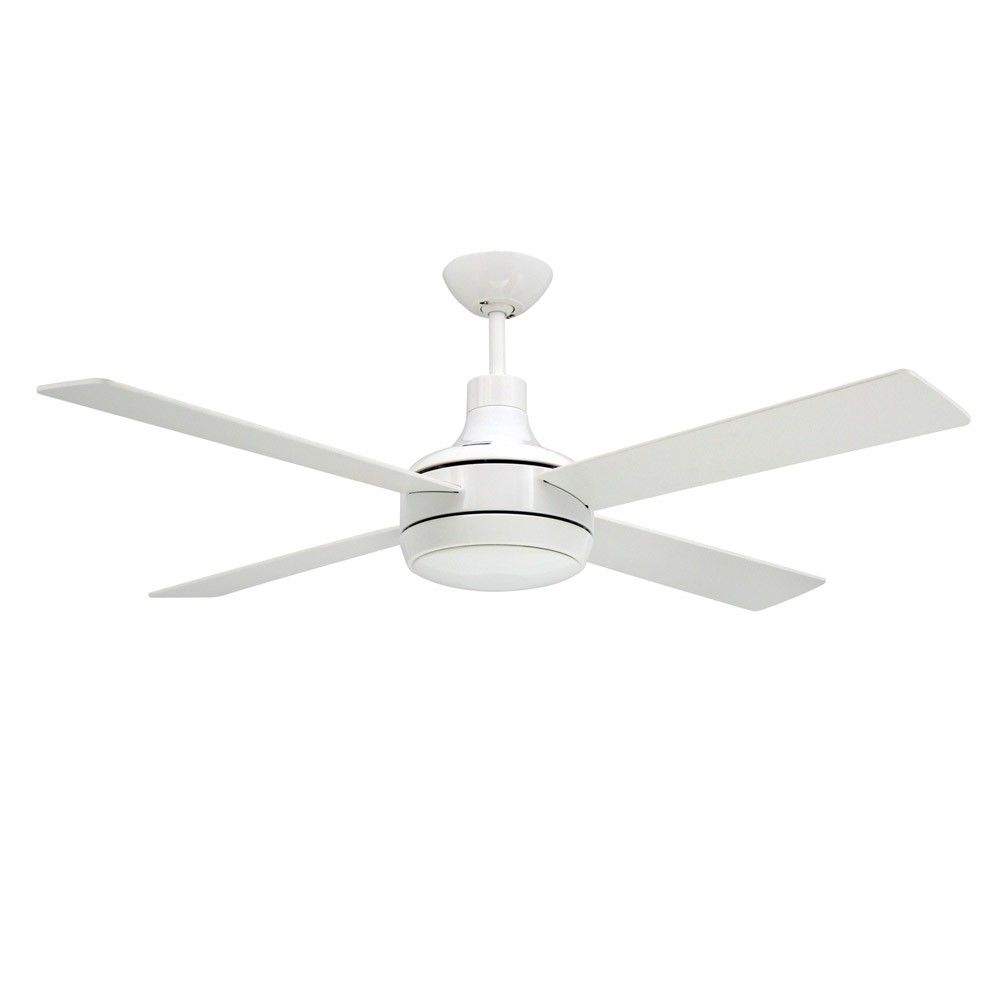 Ceiling fans with good lighting - Quantum Ceiling By Troposair Fans Pure White Finish With Optional Light Included