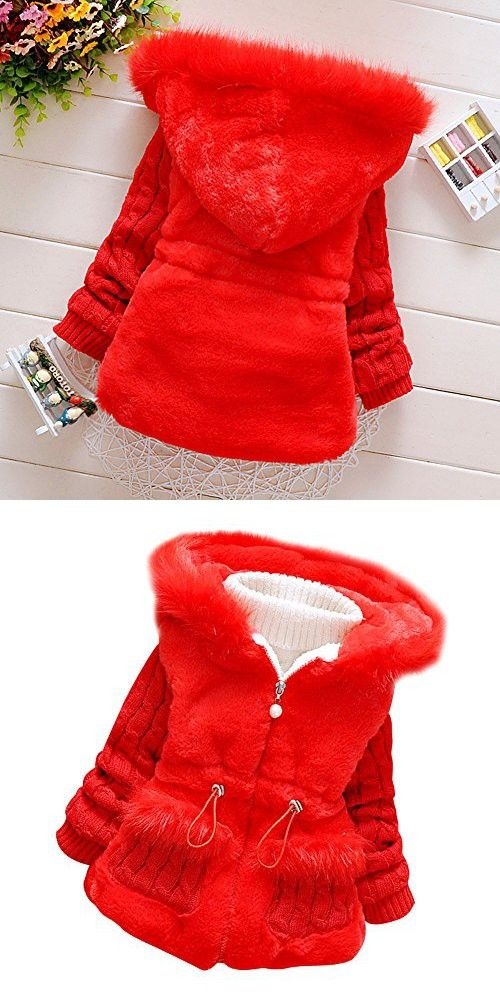 b0cbea772 Baby Girls Infant Toddler Winter Knited Outerwear Coats Snowsuit ...