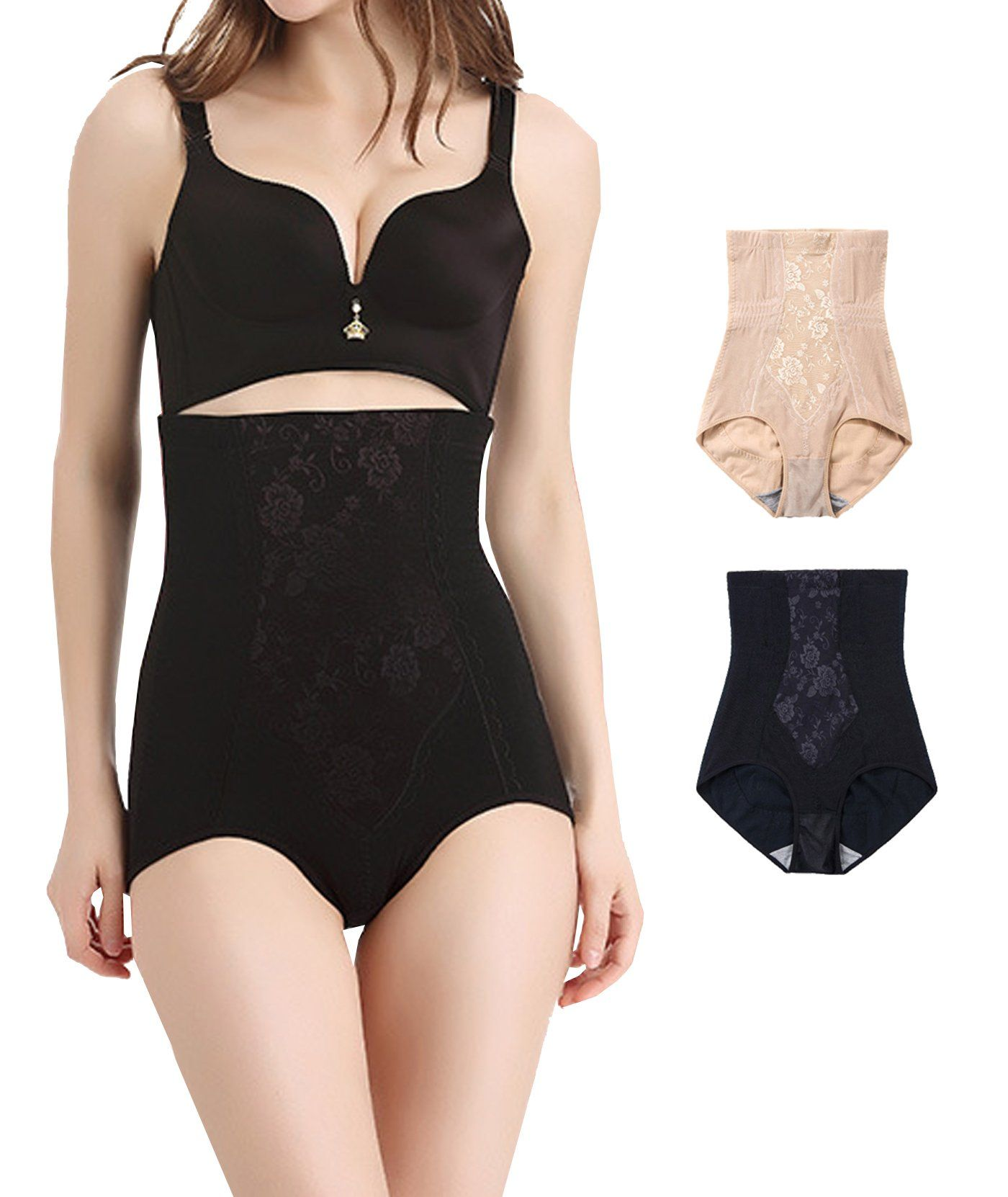 0ba31b47bc4 2Pack Ultra High Waist Body Shaper Slimming Panty Tummy Control Shapewear  Brief 3X Plus     Want to know more