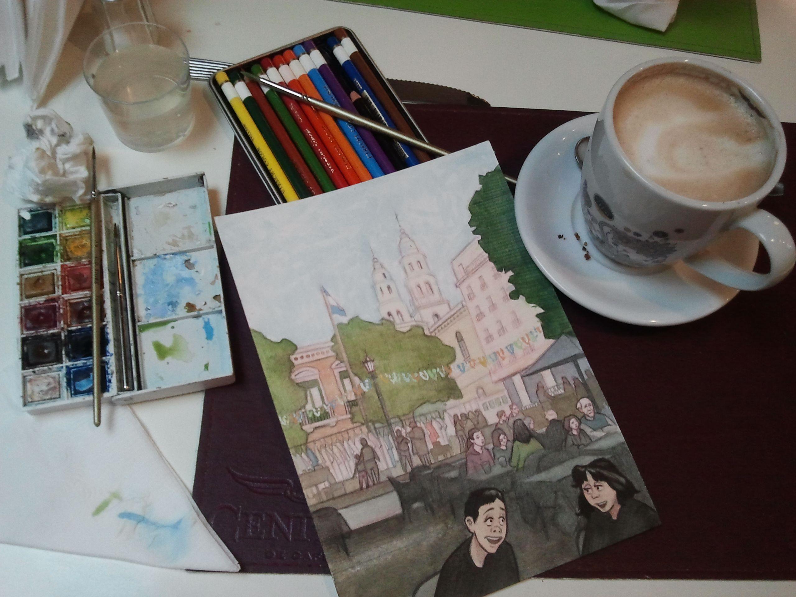 Cafe, Buenos Aires Tea house, Creative, Art pieces