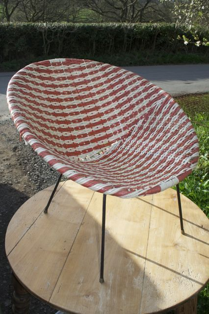 Vintage Retro 60\'s 1960 Woven Plastic Egg Chair Atomic Tub Bucket ...