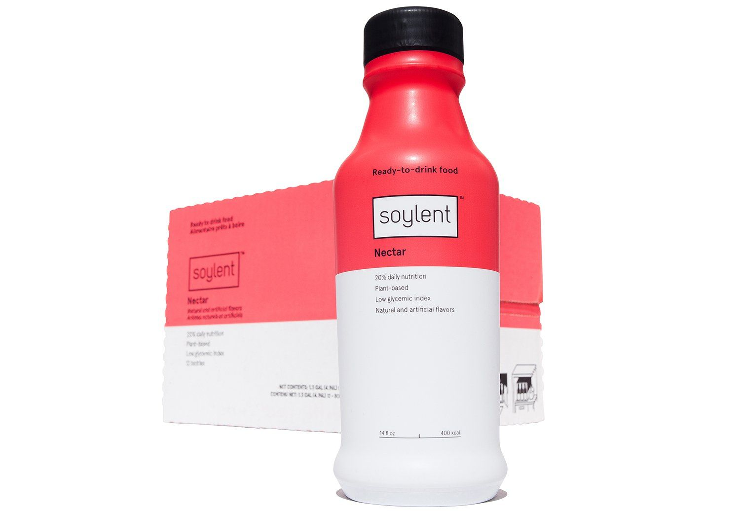 Soylent Ready To Drink Food, Nectar, 14 oz Bottles, 12 Count