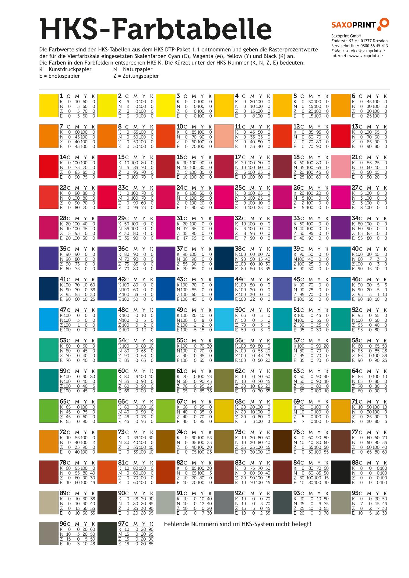 farben im hks farbf cher farbtabelle saxoprint blog c o l o r s pinterest farbf cher. Black Bedroom Furniture Sets. Home Design Ideas