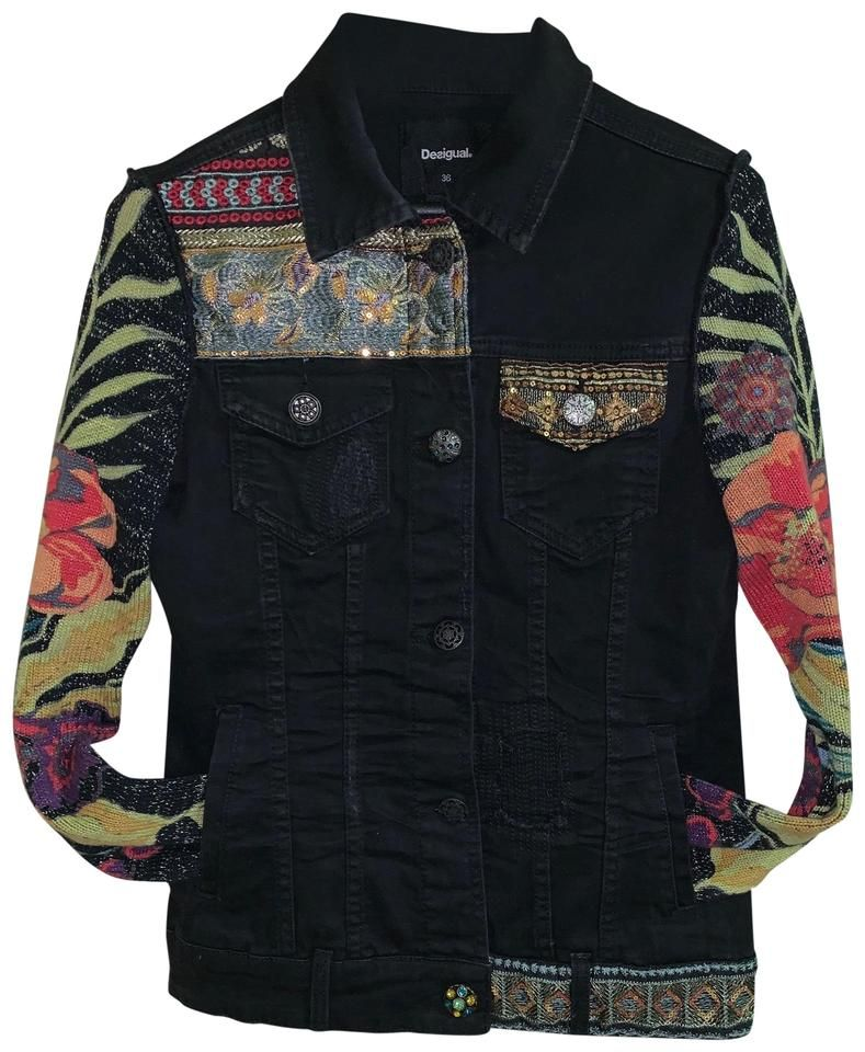 Desigual | Black Jacket Size 4 (S) in 2020 | Jackets, Black