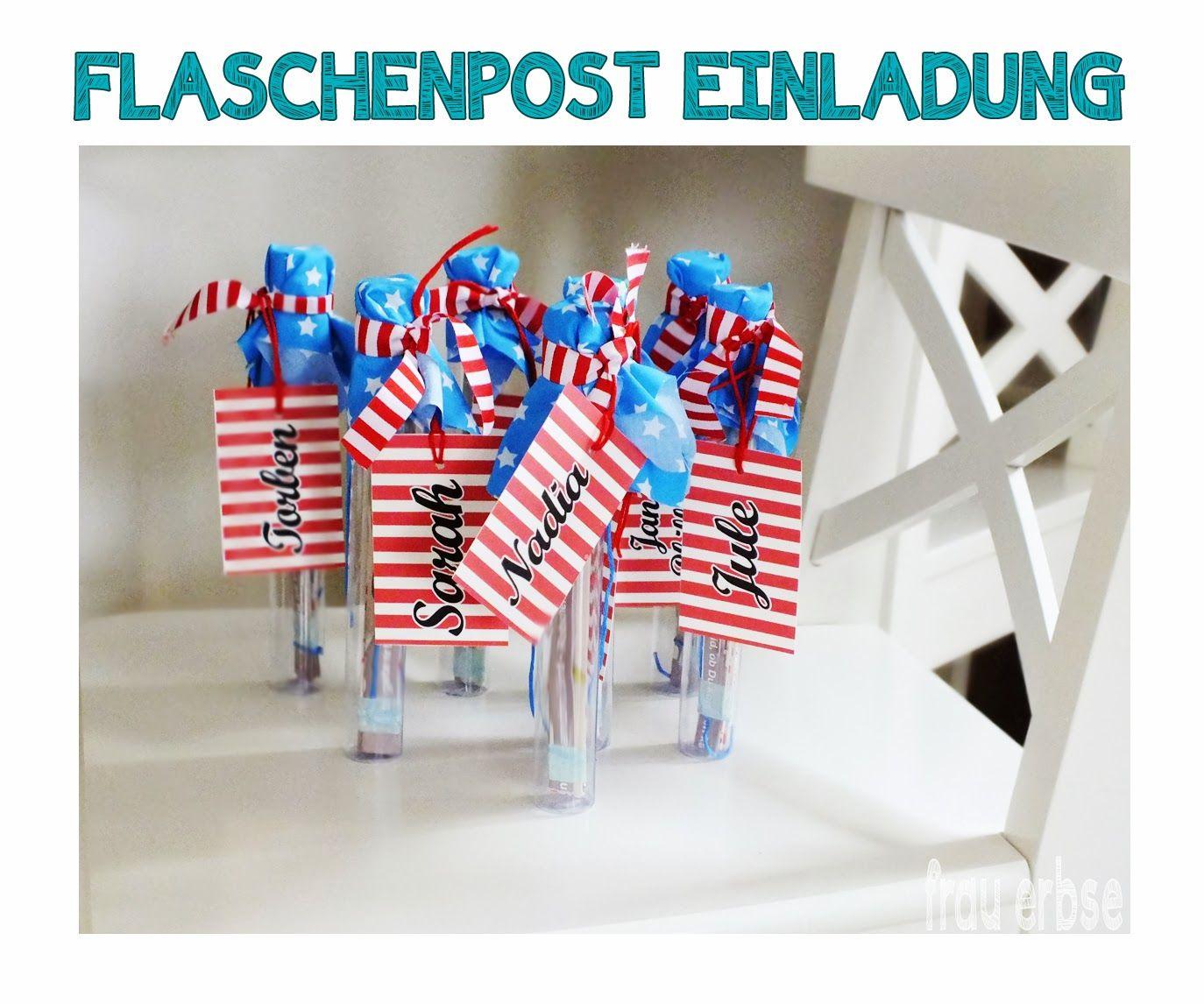 Die Elberbsen: ♥ DIY   Flaschenpost Einladung ♥