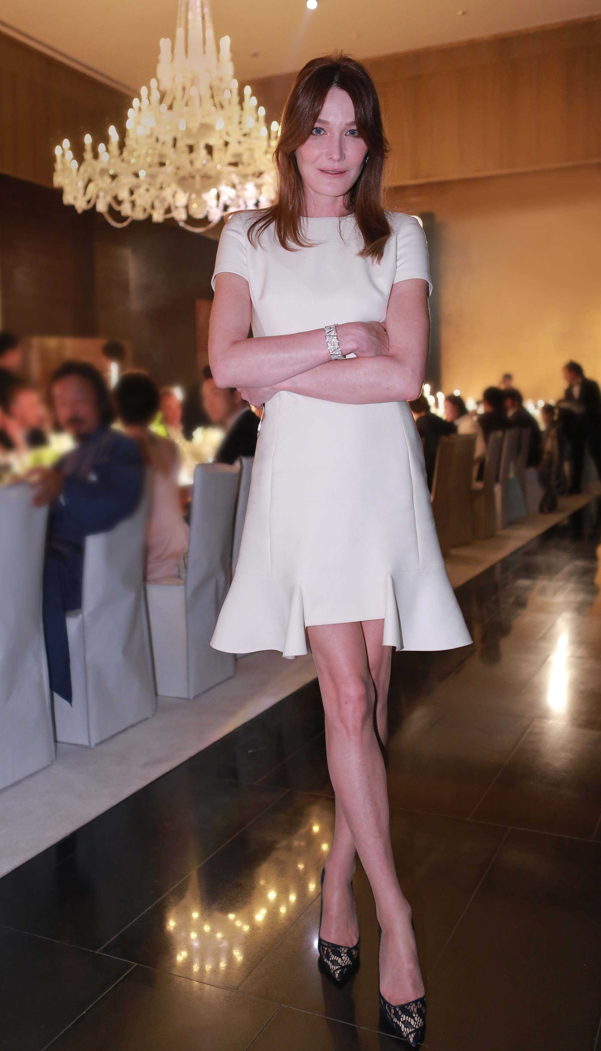 Carla Bruni - Miss Dior exhibition opening, Beijing, China - April 29, 2015