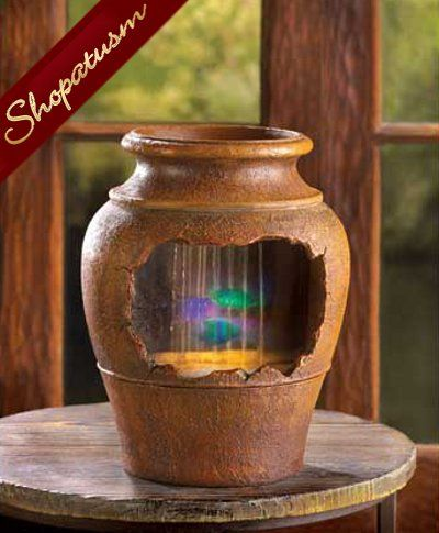 Beautiful Grecian Urn Light Up Decorative Table Fountain