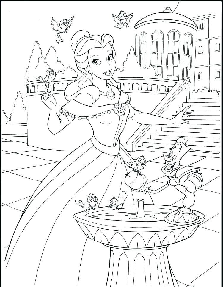 Coloring Princess Disney Princesses Coloring Pages Jasmine Disney