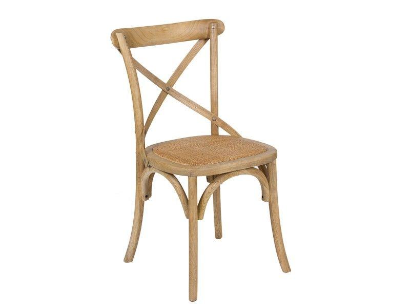 Silla vintage de madera y rattan sillas de comedor for Sillas rattan comedor