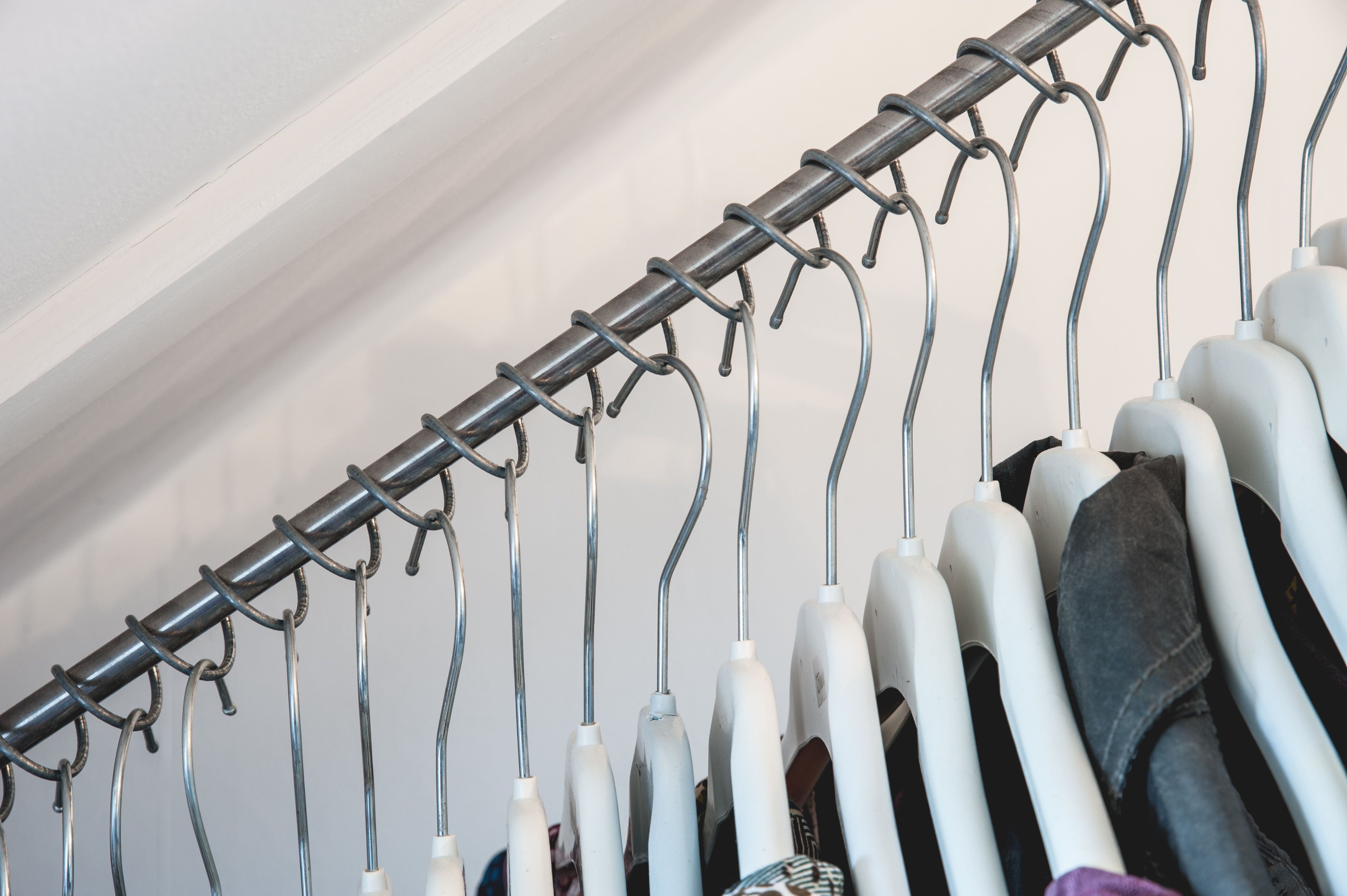 Zebedee Is The Only Clothes Rail Designed Specifically For Sloping Angled Ceilings Perfect For Dormer Bedrooms Dormer Bedroom Under Stairs Closet Under Stairs