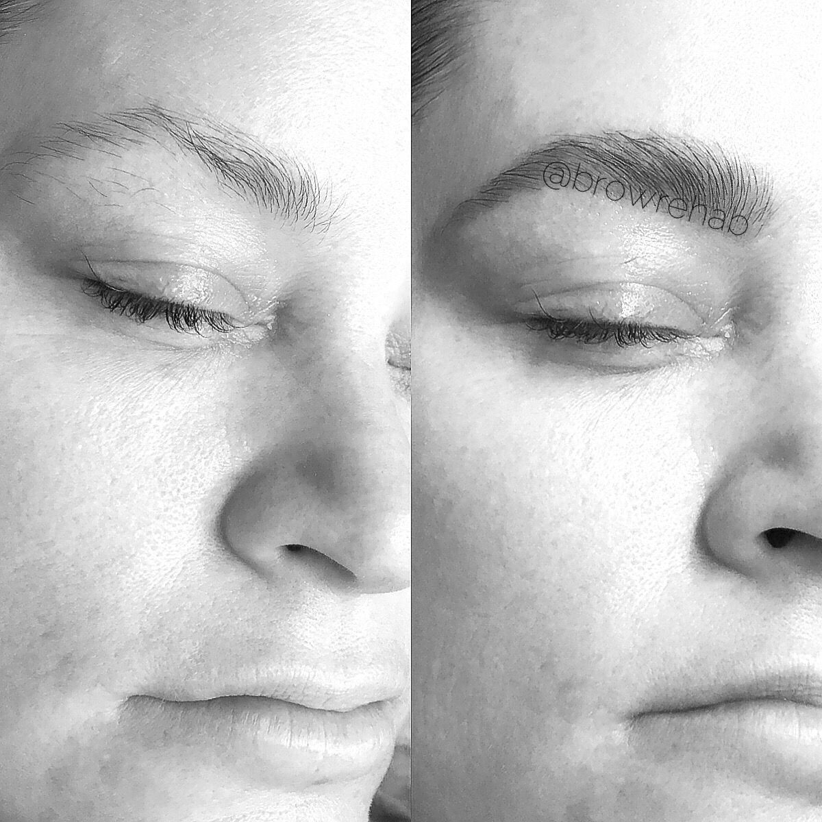 Brow Rehab before and after #browtint and #browwax  #browrehab
