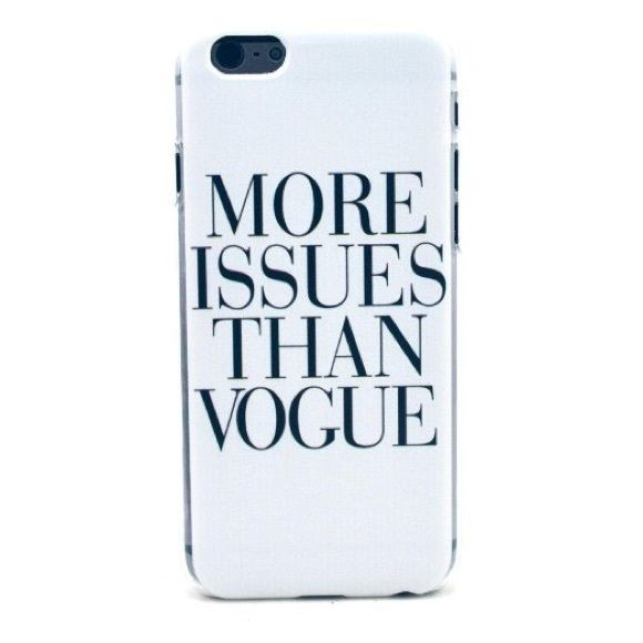 More Issues Than Vogue Sassy IPhone 6 Case Brand new phone case for the iPhone 6. Accessories Phone Cases