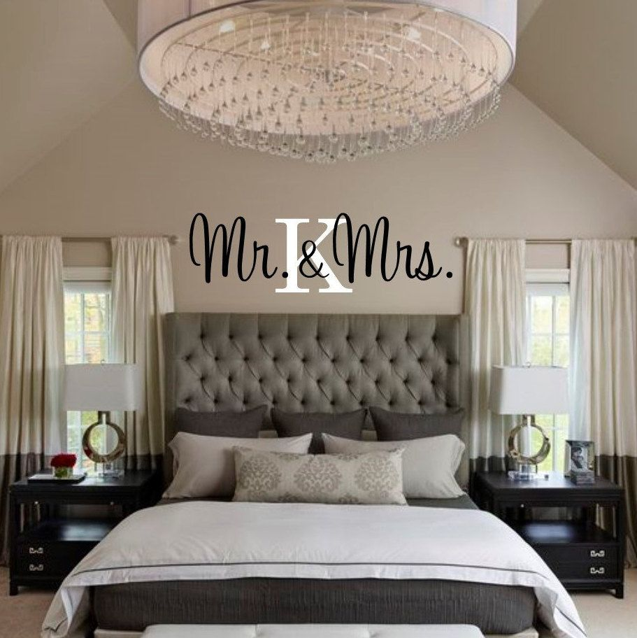 Best Free Shipping Mr Mrs Vinyl Wall Decal Stick With Initial Bedroom Decal Bedroom D 400 x 300