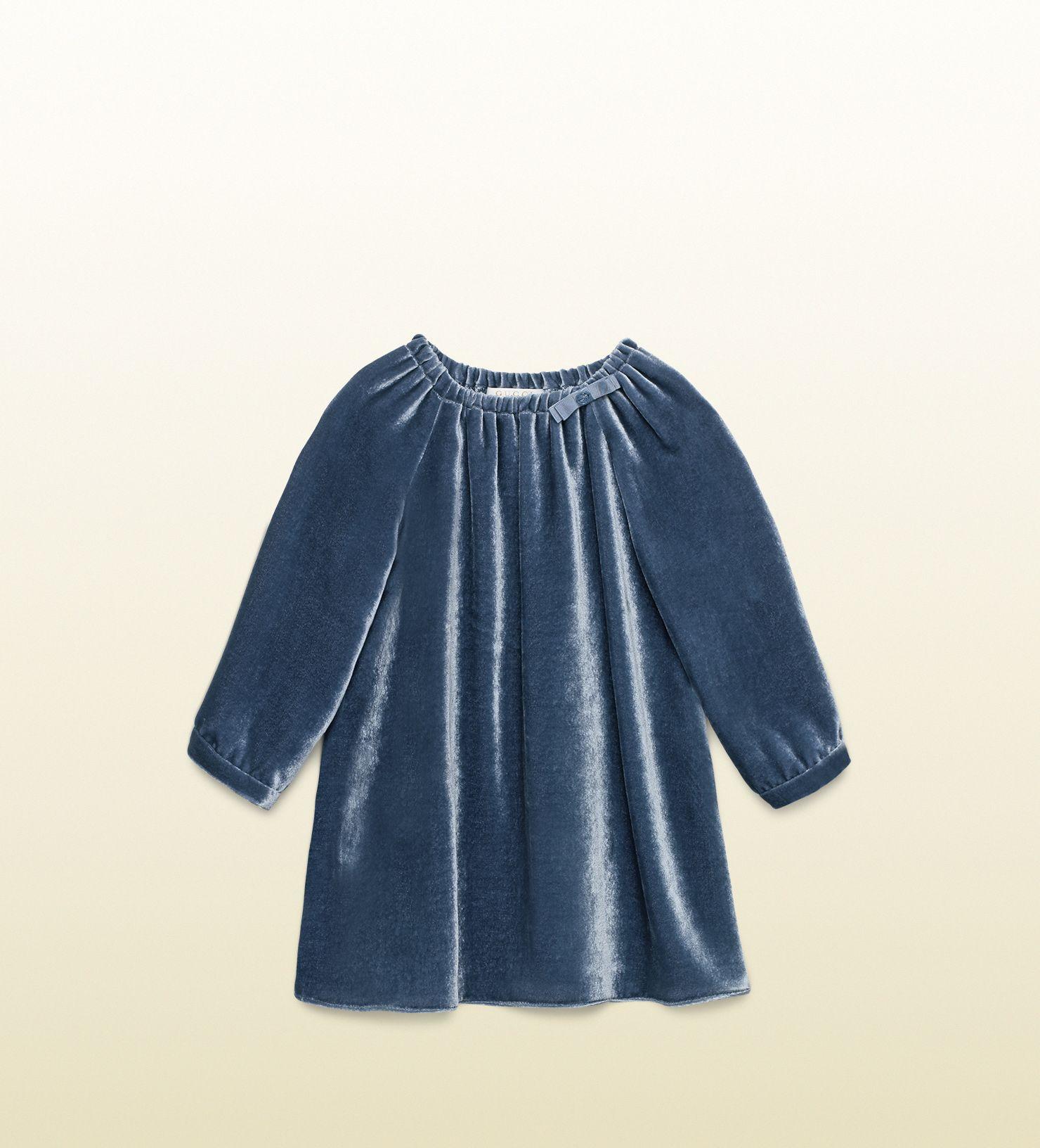 Gucci baby viscose silk velvet dress
