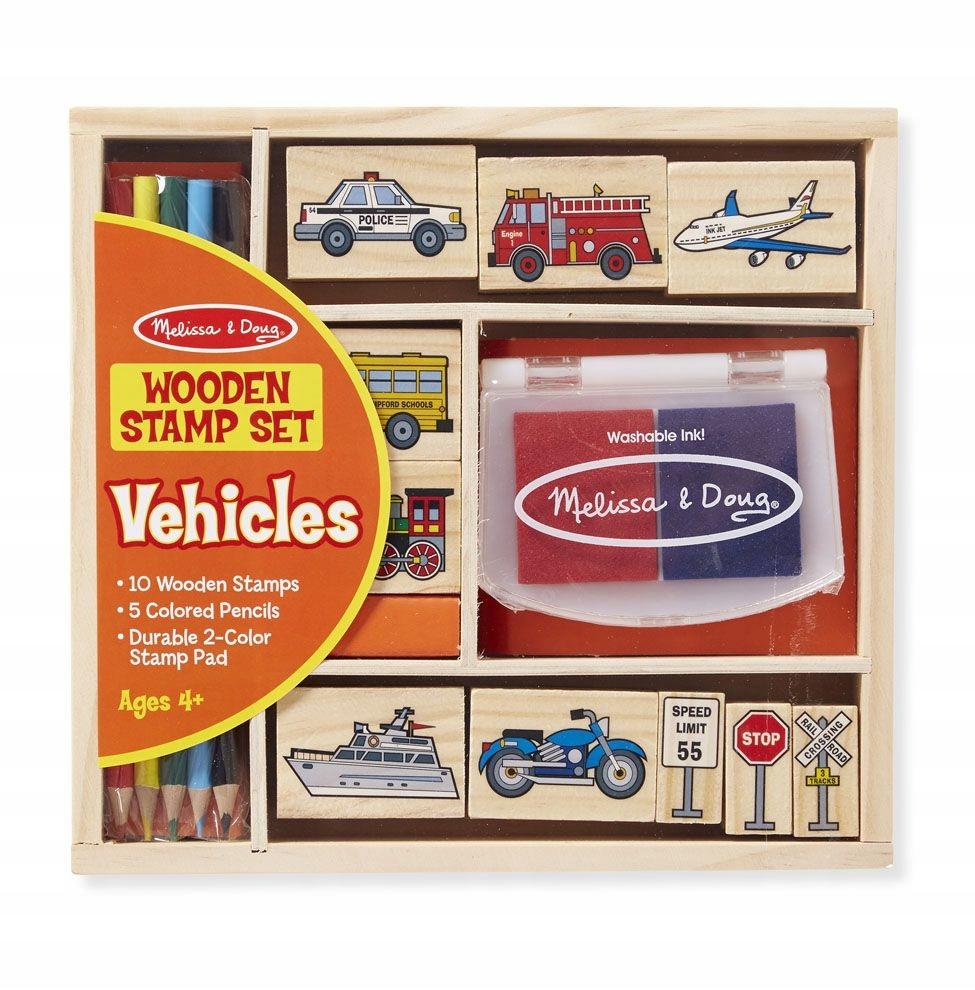 Drewniane Stempelki Pojazdy Auta Melissa 16 El Wooden Stamps Wood Stamp Stamp Set
