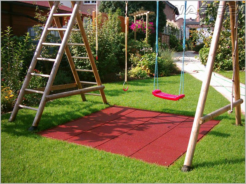 Backyard Play Area Ideas backyard playground ground cover options Find This Pin And More On Garden Spongy Tiles Under Swing Smart Idea Backyard Play Area