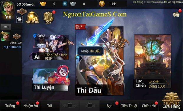 VNG chính thức cho ra mắt bản Việt hoá game 3Q 360Mobi cho Android miễn phí