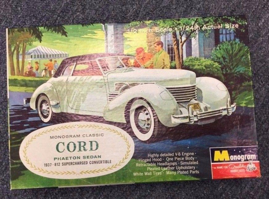 1937 Cord Phaeton Sedan 812 Convertible 1 24 Monogram 1965