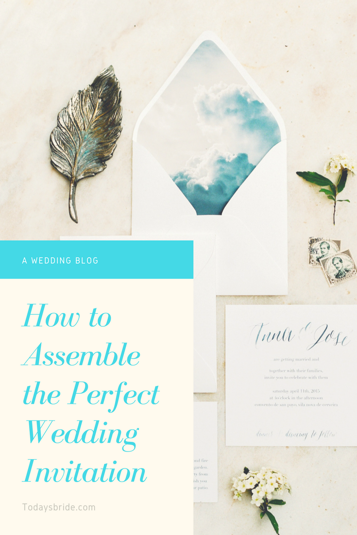 How to Assemble the Perfect Wedding Invitation
