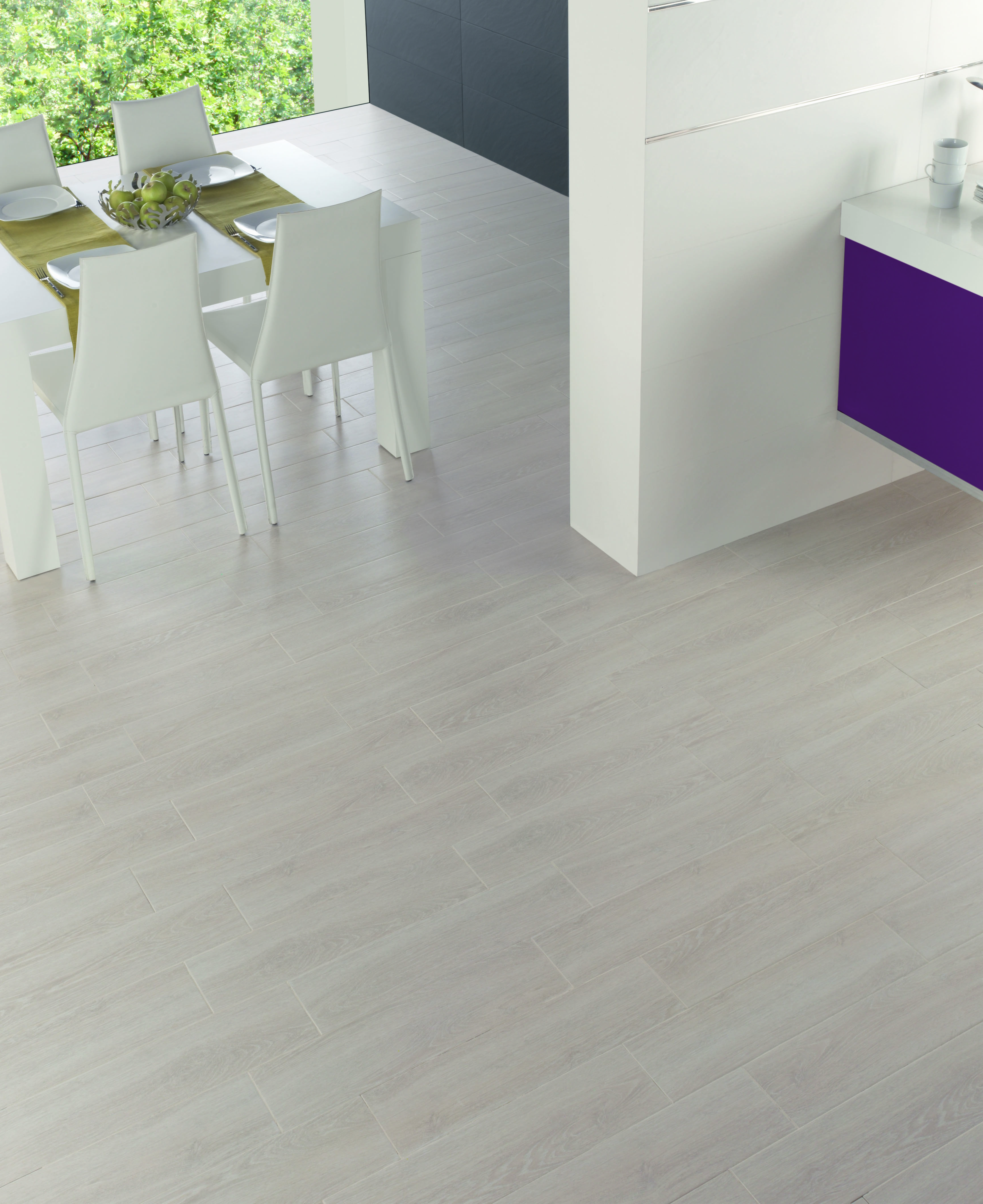 Add Light Coloured Wood Look Tiles To Your Floors For A