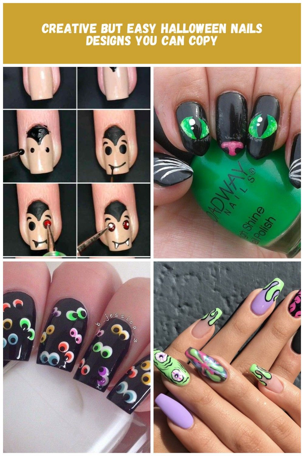 30 Creative But Easy Halloween Nails Designs You Can Copy Nail Designs Halloween Creati Halloween Nail Designs Halloween Nails Easy Easy Halloween Nails Design